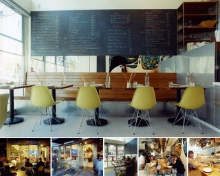 Pizzeria Delfina in San Francisco, California, designed by Envelope A+D, honorable mention in the New Practices San Francisco 2009 competition.