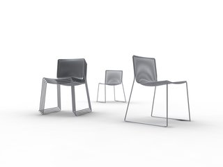 Moire Chair by KiBiSi. Designed in 2008 for the 8 House in Copenhagen. Concept. <br><br>Photo courtesy of KiBiSi