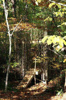 """Maintaining the tree house has been a rather simple job. """"It gets somewhat slick when it rains but it's holding up well,"""" Laurie says. Besides brushing off leaves in the fall, there's little other work to do.Photograph courtesy of Laurie Stubb."""