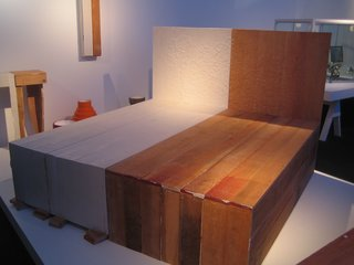 This bed is from designer Peter Marigold's Palindrome Series.