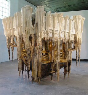 USA Fellows Announced - Photo 8 of 8 - Measuring over five feet tall, Spun of the Limits of My Lonely Waltz is a sculpture created by Diana Al-Hadid in 2006.Photo courtesy of Diana Al-Hadid