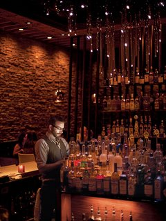 The Starlight Lounge, a restaurant and bar, was designed by Barbara Rourke and Jason St. John of Bells & Whistles.