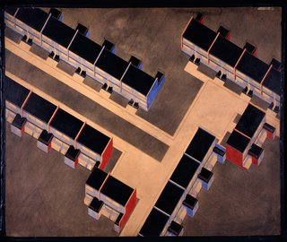 Torten housing estate isometric drawing by Walter Gropius. Image courtesy the Museum of Modern Art.