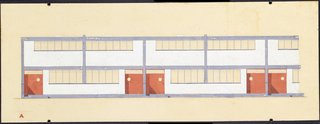 Torten housing estate elevation drawing by Walter Gropius. Image courtesy the Museum of Modern Art.
