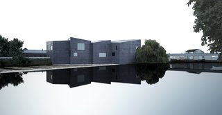 Image of The Hepworth Wakefield from the David Chipperfield: Form Matters exhibition, on view at the Design Museum through January 31, 2010. Photo courtesy of David Chipperfield Architects and the Design Museum.