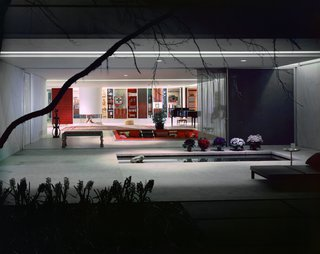Photo of the Miller House in Columbus, Indiana (1957) by Eero Saarinen, on display at the Museum of the City of New York through January 31, 2010. Image by Ezra Stoller and courtesy of the Finnish Cultural Institute in New York.