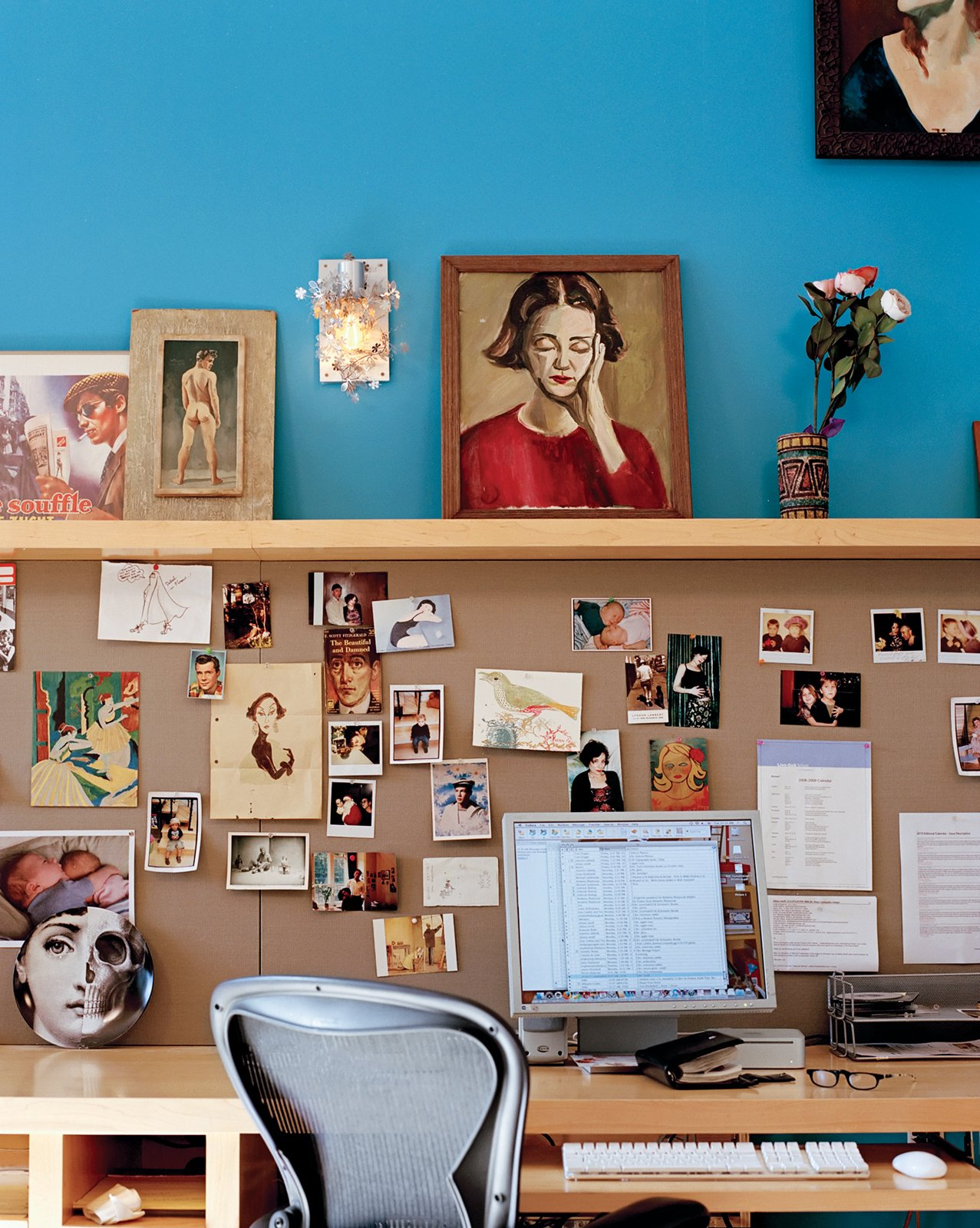 Office, Study Room Type, Chair, and Desk Deborah's office, which shares a wall with Wes's new room, is a repository for assorted claptrap  Photo 12 of 14 in Project Runaway