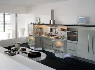 Snaidero Universal Design Kitchens - Photo 2 of 8 - Italian kitchen company Snaidero set out in 2002 to create an attractive kitchen system that would meet the needs of individuals in wheelchairs. The result: the Skyline kitchen.