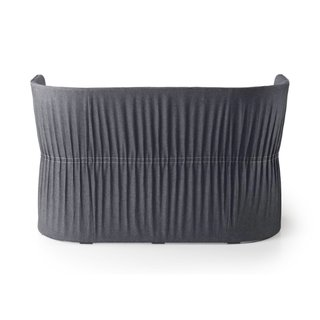 The Dress sofa features a delicately pleated back.