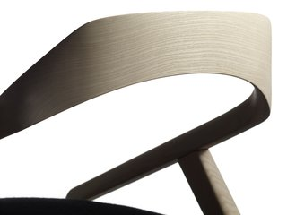Stockholm Furniture Fair 2010 - Photo 20 of 22 - A detail shot illustrates the delicate arching back of the Antelope chair by Monica Förster for Swedese.