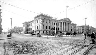 Greening San Francisco's Old Mint - Photo 3 of 7 - Here's a picture of the Old Mint from 1889. It still stands at the corner of Mission St. and Fifth St. in large part thanks to it's foundation, which rests of loose gravel and soil, allowing the building to roll and shift during the 1906 earthquake instead of cracking and splitting apart.