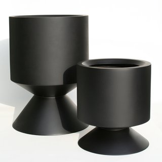 Phase Design's Griffin planter is as substantial as it is stunning. Made from hand-sanded fiberglass with an automotive polyurethane gloss finish the Griffin measures in at 18-inches high and 16 inches in diameter and the Griffin XL at 28-inches high and 20 inches in diameter. Good for the indoors though better suited for the backyard, the planter can also be complemented with the Griffin Stool/Table, which features the same shape but topped with a 1.5-inch solid walnut butcher board lid.