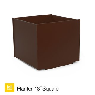 Loll Designs' planters are made by the company's signature 100-percent post-consumer recycled plastic from used milk jugs. Designed to withstand the elements, the planter also was created to encourage drainage, with its joinery made to allow water to escape through its edges. Available in black, sky, white, chocolate, leaf, and apple.