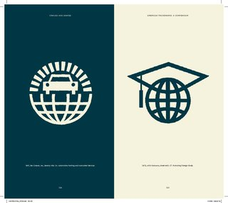 Two plays on a gridded globe, we have a car painting company on the left and AIFS-Delaware, a group that promotes foreign study, on the right.