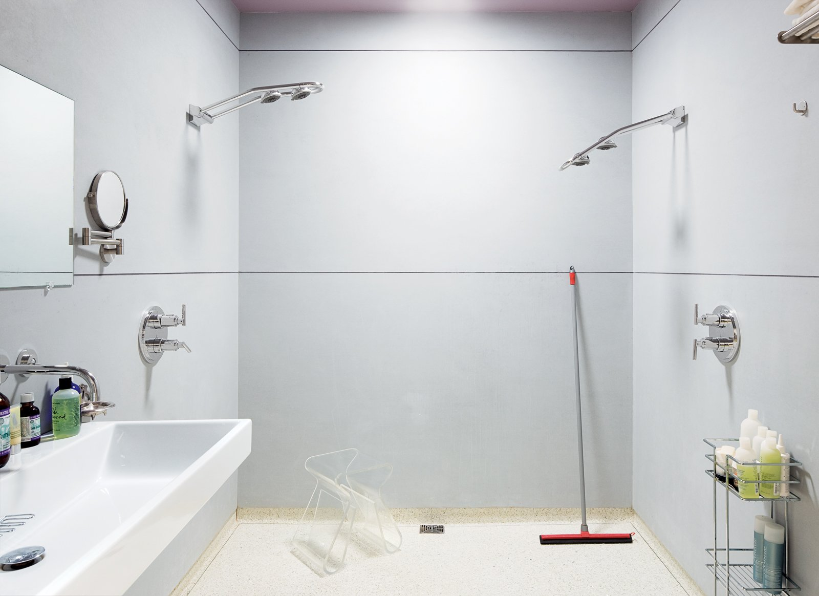 The huge master bathroom includes a fully accessible walk-in shower.  Photo 9 of 13 in Village People