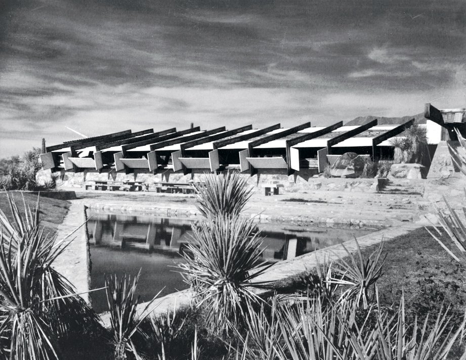 Exterior Taliesin West, 1939.  Photo 6 of 10 in 10 Frank Lloyd Wright Buildings We Love from Pedro E. Guerrero