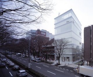 2010 Pritzker: Sejima and Nishizawa - Photo 3 of 10 - Perhaps a more ordered precursor for the New Museum in New York, this Dior shop in Tokyo from 2003 is a good example of SANAA's subtle shift in scale, color, and porousness.