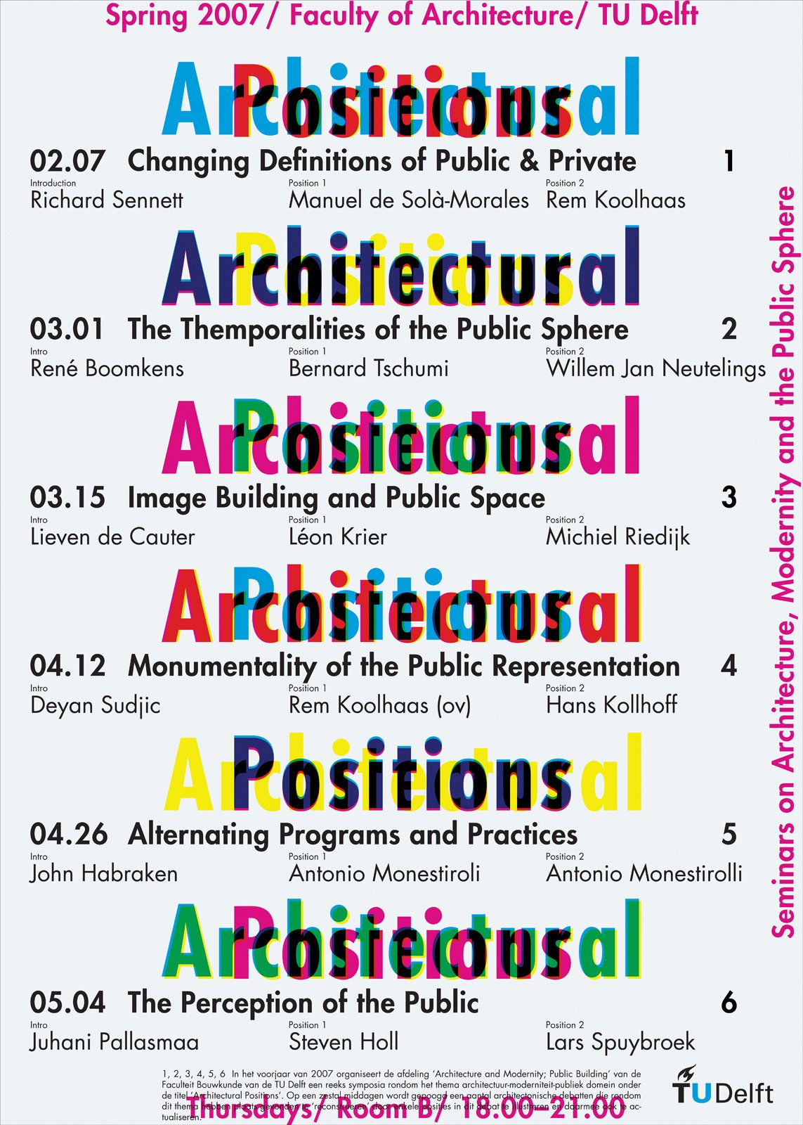 A poster for an architectural lecture series.  Photo 15 of 18 in Dutch Master