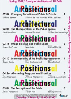 A poster for an architectural lecture series.