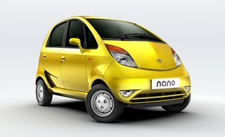 Tato Nano, developed by Tata Motors. On display February 18 through April 25, 2010, at the Cooper-Hewitt, National Design Museum, as part of the Quicktake exhibit. Photo courtesy Tata Motors.