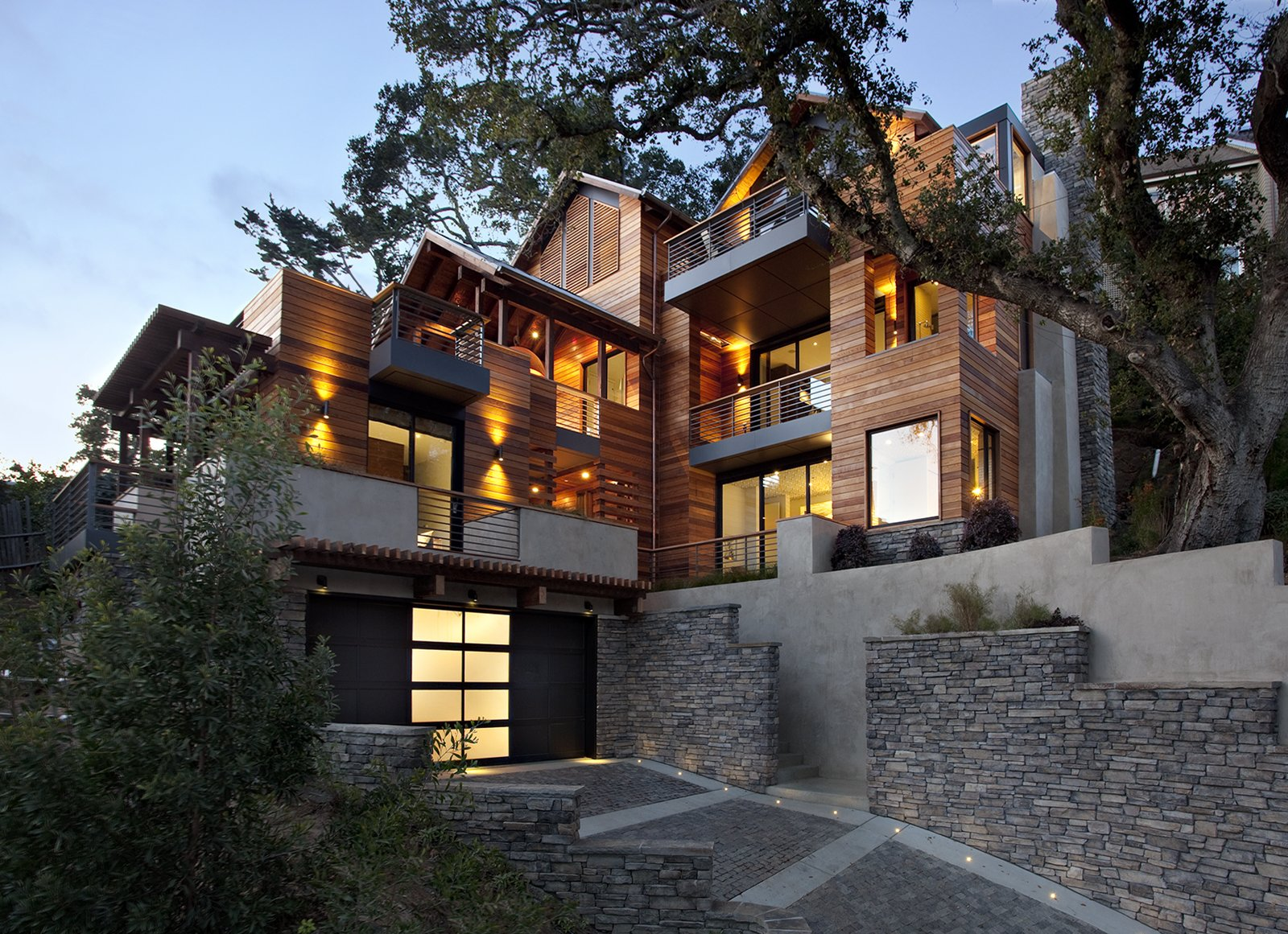 The Hillside Residence by Scott Lee of SB Architects in conjunction with Arcanum Architecture is in Mill Valley.  Photo 7 of 10 in 11 Hillside Homes That Feature a Balancing Act With Nature from Marin Living: Home Tours