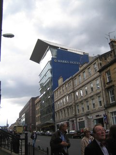 Whilst out on my late afternoon walk I came across this rather impressive, if a shade ominous, modern hotel.