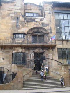 It was a bit tough to get a good shot of the full facade, here's the entry to the Glasgow School of Art.