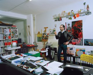 """Grcic's father favored antiques while his mother decorated the house with brightly colored 1960s art and objects. As a result, said Grcic, he was used to contrast. In his own work, he is always honing in on the essential. """"It's totally unconscious,"""" he says, of what we look for and respond to in design. He constantly observes as people interact with their environments. """"It's about how we sit in chairs. But it's also who is the one sitting in that chair, and how and when."""""""