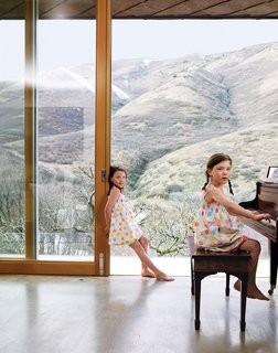 Take a Step Through 20 Huge Modern Doors - Photo 6 of 20 - In warm weather, the family slides open the doors to draw in cool canyon breezes.