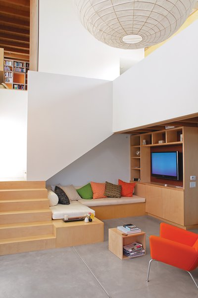 Built-ins reduce the need for furniture.
