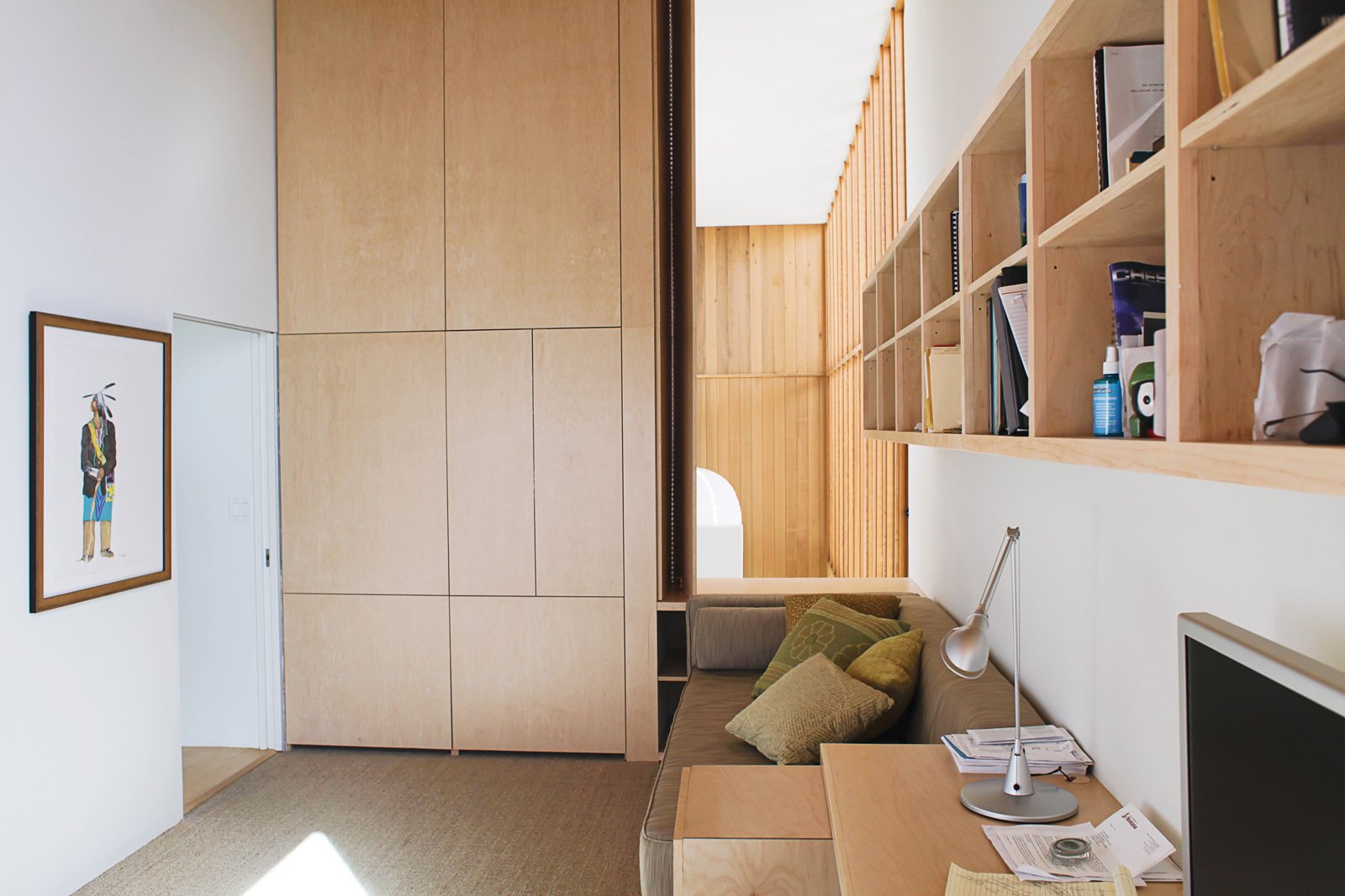 Office, Study Room Type, Storage, and Desk Dan designed the office seating with the capacity to double as overnight accommodations.  Photo 9 of 13 in Coast Docs