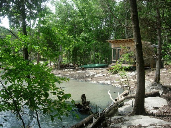 Tagged: Outdoor and Trees.  Photo 1 of 4 in How to Build an Off the Grid Cabin