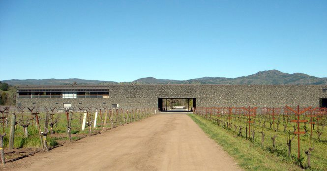 The rear facade of the winery.  Photo 9 of 9 in The Stealth Winery