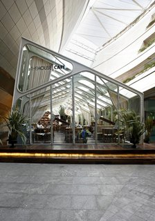 The glass cafe—another of the House Cafe projects.