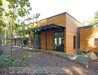 Triangle House Tours - Photo 28 of 30 - The single story home designed by Studio B Architecture is comprised of three rectangular forms, the central and tallest of which contains the primary living space.