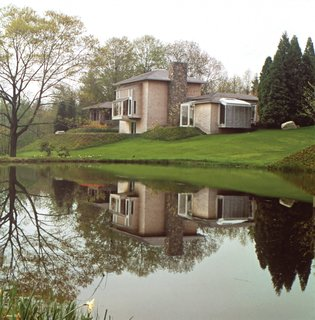 """""""The concept is similar to a chateau in the Loire Valley,"""" Platner said of his own house in Guilford, Connecticut."""