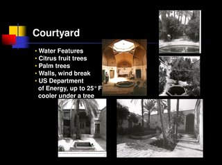 Learning from Iran - Photo 2 of 2 - This image from Razavian's presentation shows the benefits, as well as some iterations, of designing with a courtyard and water feature.