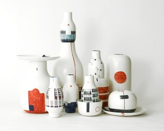 Renée Rossouw, a postgraduate masters student at the European Design Labs in Madrid, created this ceramic set in collaboration with Bosa Ceramics as part of her final project.