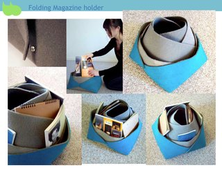 Folding Magazine Cube, by School of Art Institute of Chicago designed object student Zhe Zhang.