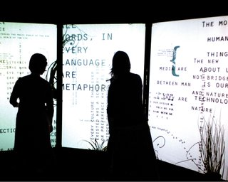 Typographic Synesthesia, a 2008 interactive installation, created by Emuna College of Art and Technology graphic design student Rachel Stomel.