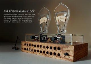 "Pratt student David Krawczyk's ""Edison Alarm Clock"""