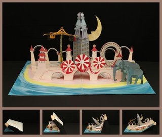 Maggie Lee, an industrial design student at Pratt, designed a pop-up book of Luna Park in Coney Island, circa 1907