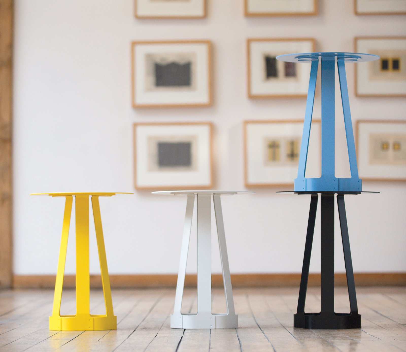 The steel Sixagon can be used as a stool, side table, or any other surface. It's got a powder-coated surface, available in black, blue, cream and yellow.  Photo 5 of 5 in Furniture Design: Misewell