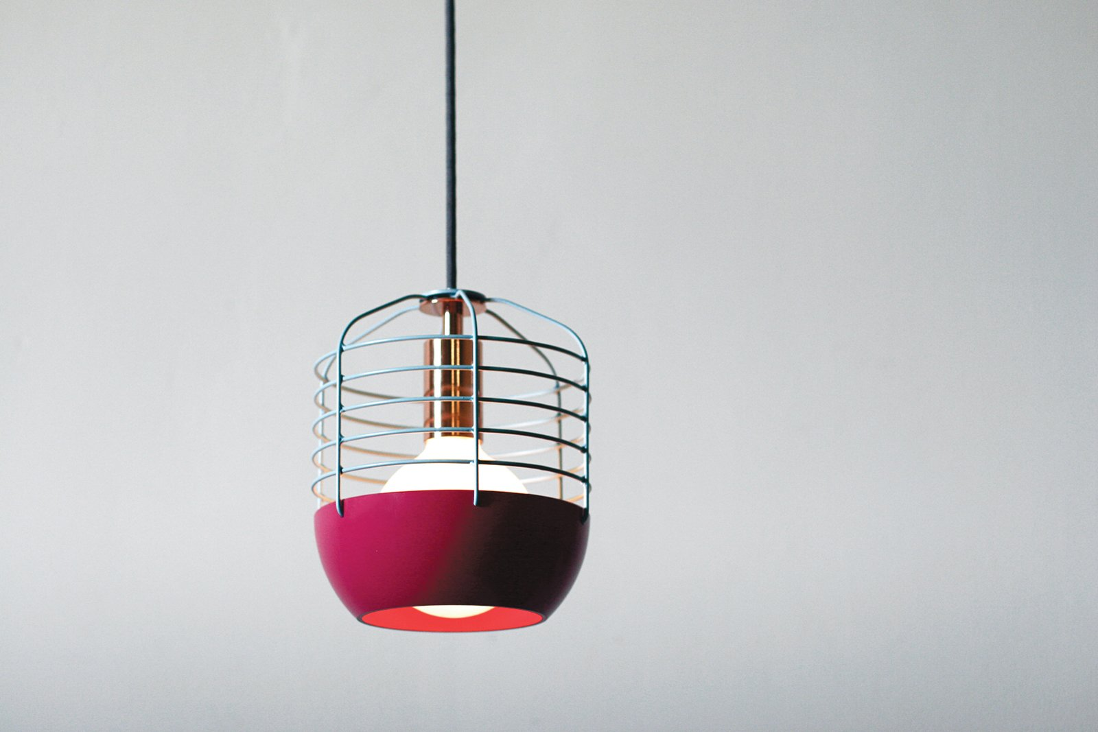 Takagi's Bluff City pendants are work lights with a kick of color and a hint of copper.  Photo 2 of 6 in Industrial Design: Atelier Takagi