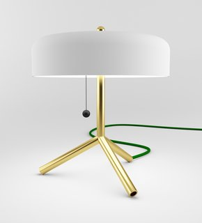 This tripod F/K/A table lamp was one of SoHo staple Matter's inagural MatterMade Collection #1.