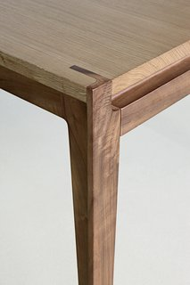 Stephane Lebrun's Assemblage Table shows an example of precise mortise and tenon joinery.