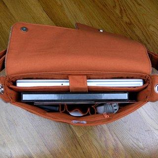 Inside Zaum's Eco Portabile Media laptop bag