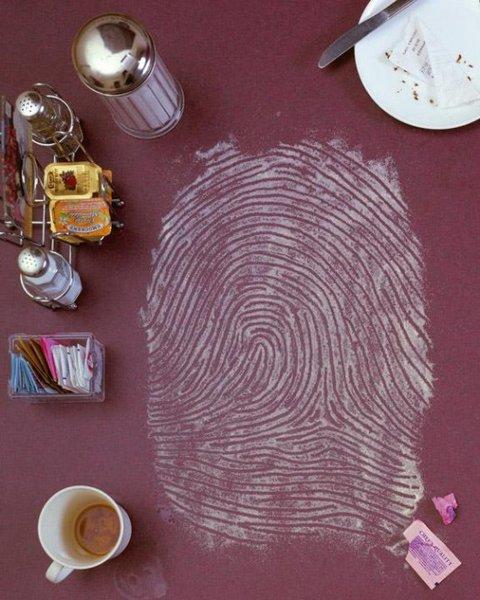 One of Kevin Van Alest's fingerprint artworks.  Photo 5 of 9 in Friday Finds 1.14.11