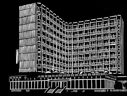 """A linocut from """"Haus Helga"""" by Katharina Immekus.  Photo 7 of 9 in Friday Finds 1.14.11"""
