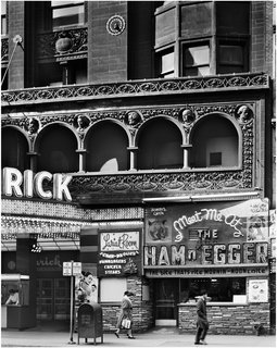 The Architecture of Adler & Sullivan - Photo 8 of 19 - Schiller Building (later Garrick Theater), Chicago, Illinois, built 1891. Photo courtesy of The Richard Nickel Committee and Archive.